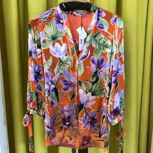 Alice and Olivia printed floral top